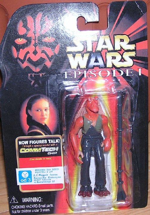 Star wars episode i polish stickered bootleg figures