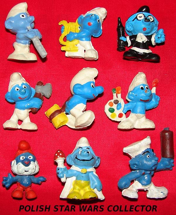 Smurfs Polish Bootleg Figures