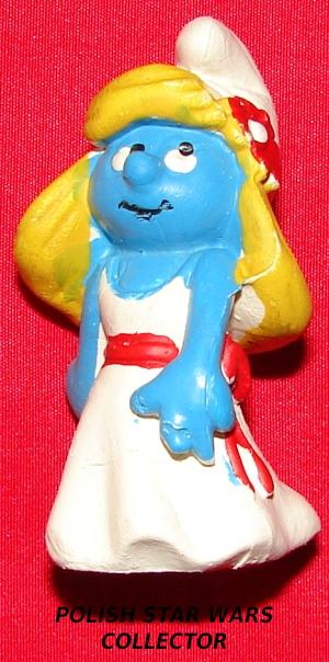 Smurfette Polish Bootleg Figure : Vary Rare